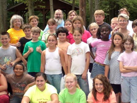 Campers at Reading Camp